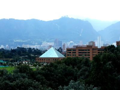 Blick aus der Wohnung von Mauricio in Richtung Zentrum Bogota