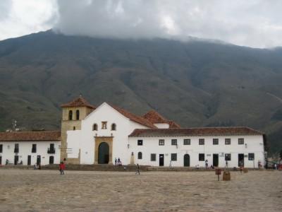 Hauptplatz in Villa de Leyva bei Nacht