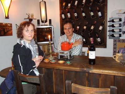Kolumbianisches Weinlokal in Villa de Leyva