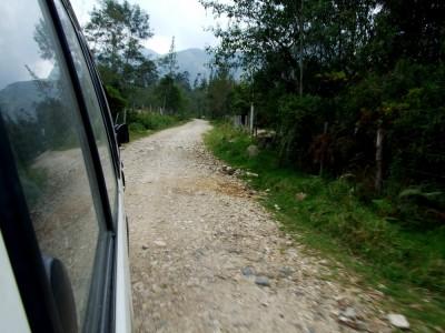 Im Bus nach Arcabuco auf der Piste