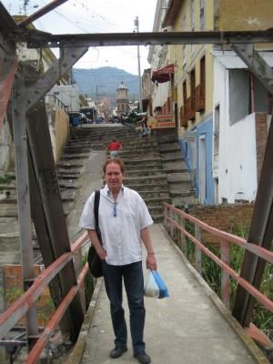 Auf der Brücke hinter dem Fleischmarkt San Gil