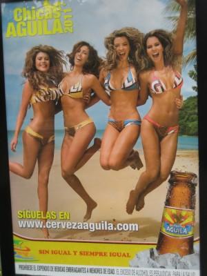 nette Bierwerbung in San Gil