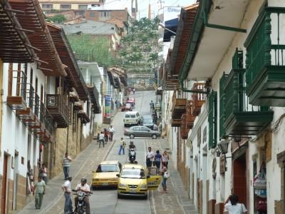 Straßenszene in San Gil