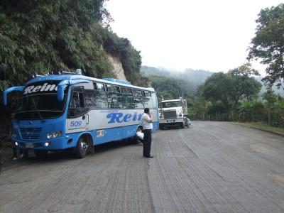 Stau auf der Fahrt von San Gil nach Bucamaranga