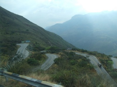 Fahrt von San Gil nach Bucamaranga
