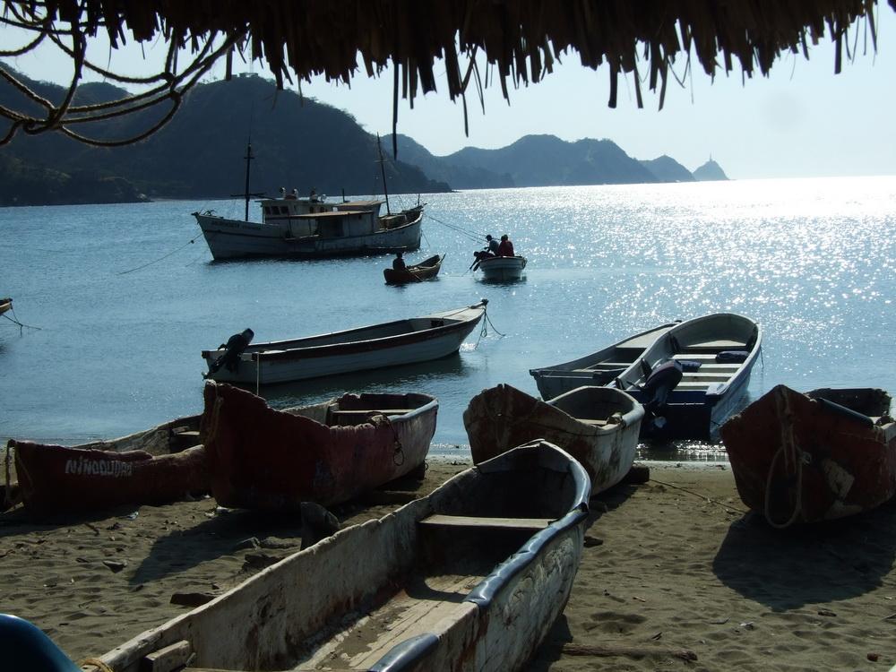 Boote in der Bucht von Taganga