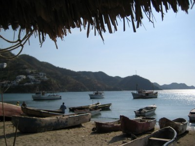 Taganga Strand-Szene
