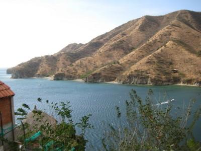 Blick auf weitere kleine Nebenstrände bei Taganga