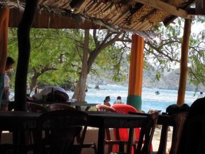 Ausblick auf Playa Grande bei Taganga