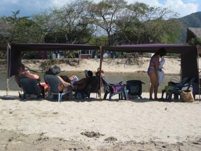 Szene Bahia Concha beim Tayrona Nationalpark