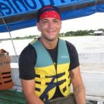 Tourist auf dem Amazonas bei Santa Rosa Peru