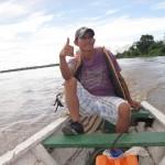 Juan-Carlos der Kapitän auf dem Amazonas in Kolumbien bei Leticia